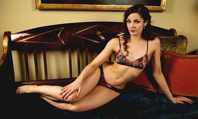 Angela Friedman lingerie. Model Arden Leigh, Photographer Sean Beach