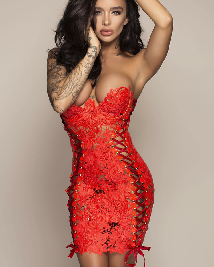 Elissa Poppy Corset Dress