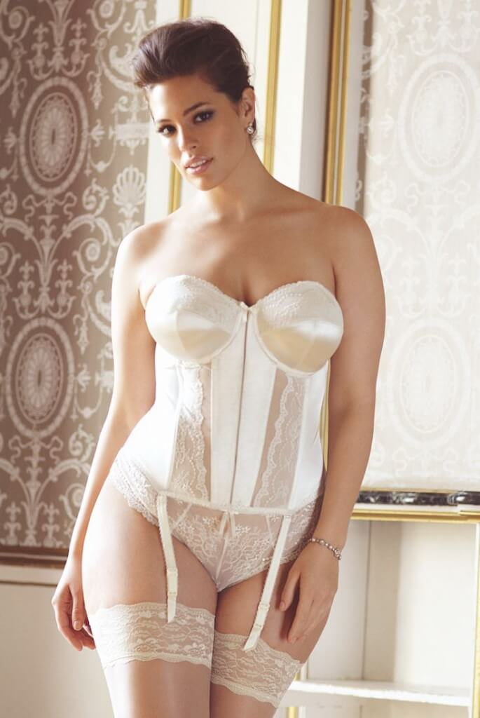 Plump mature lingerie