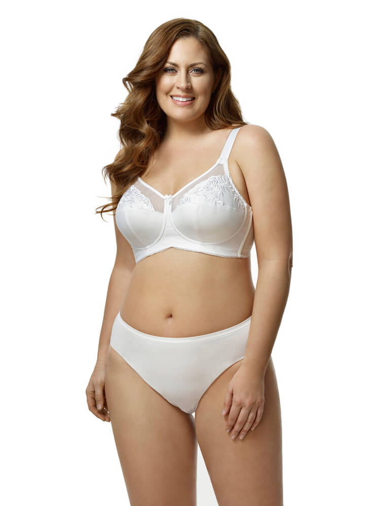 Embroidered Microfiber Softcup Bra by Elila  36B to 54G (US sizing)