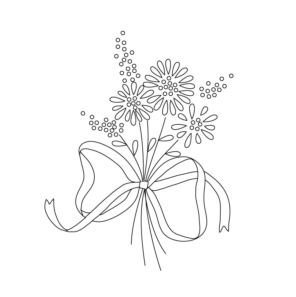 Embroidery Pattern, copyright Quinne Myers. For personal use only.