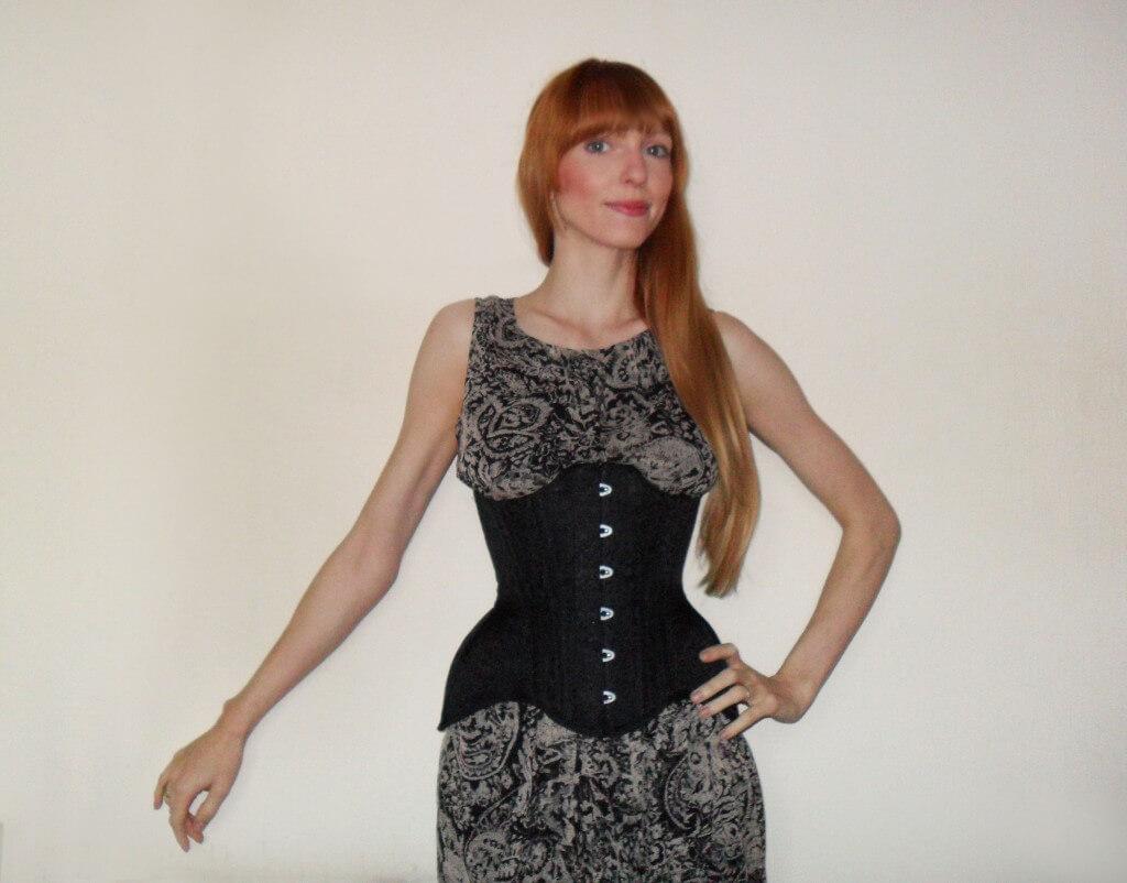esty lingerie brocade corset review