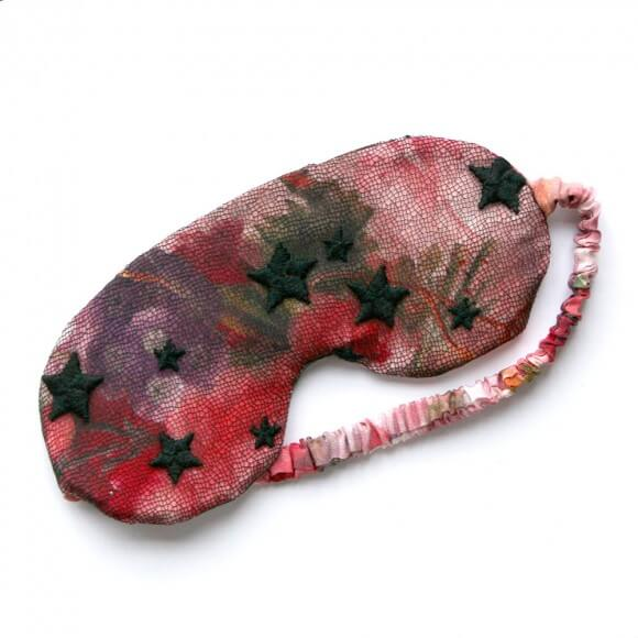 Evgenia Lingerie Floral Silk and French Lace Overlay Sleep Mask