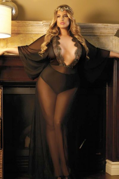 angelique gown, plus size lingerie