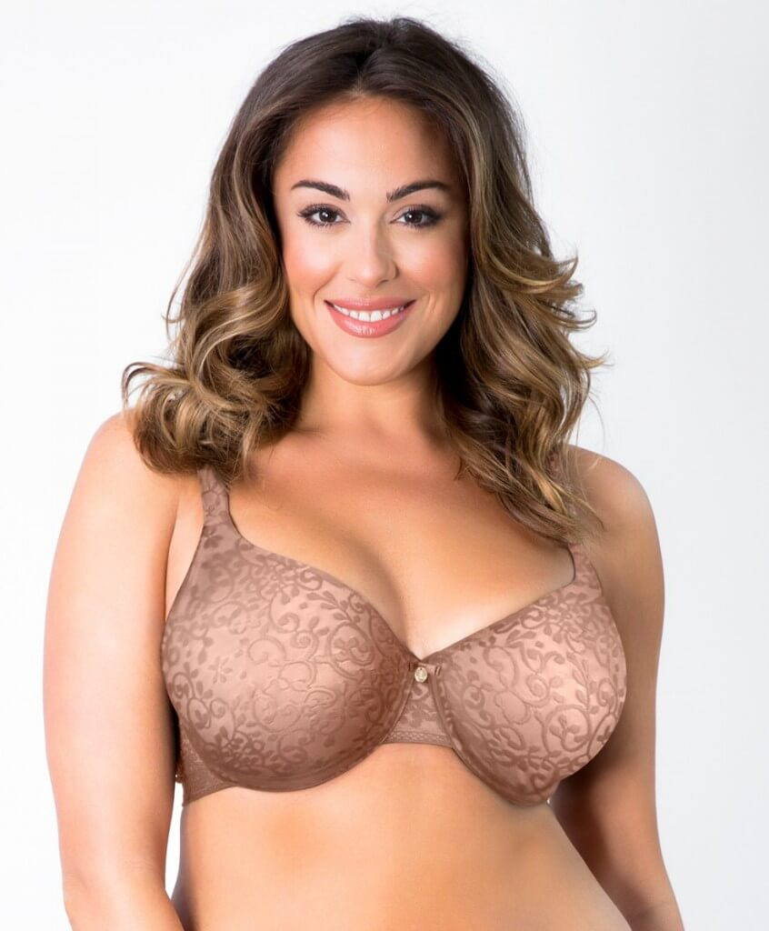 Fantasia Spacer Jacquard Minimizer by Curvy Couture   34C to 44H