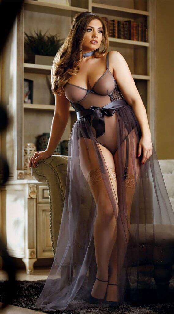19440b9d96b8a Lingerie of the Week  Fantasy Plus Size Nicole Teddy and Sabrina ...