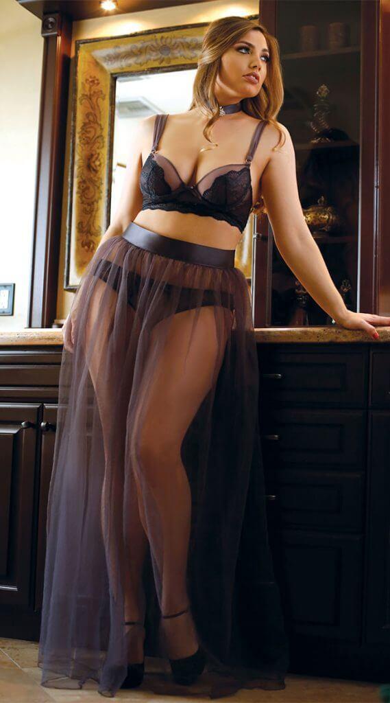 fantasy tulle skirt longline bra panty