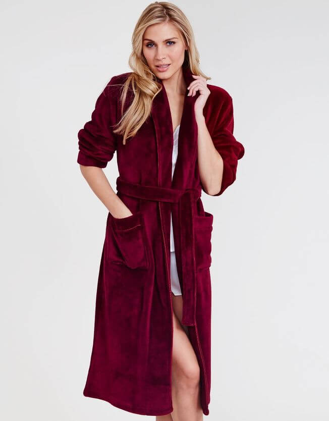 Figleaves Snuggle Shawl Collar Robe (Was $53, Now $26.50)