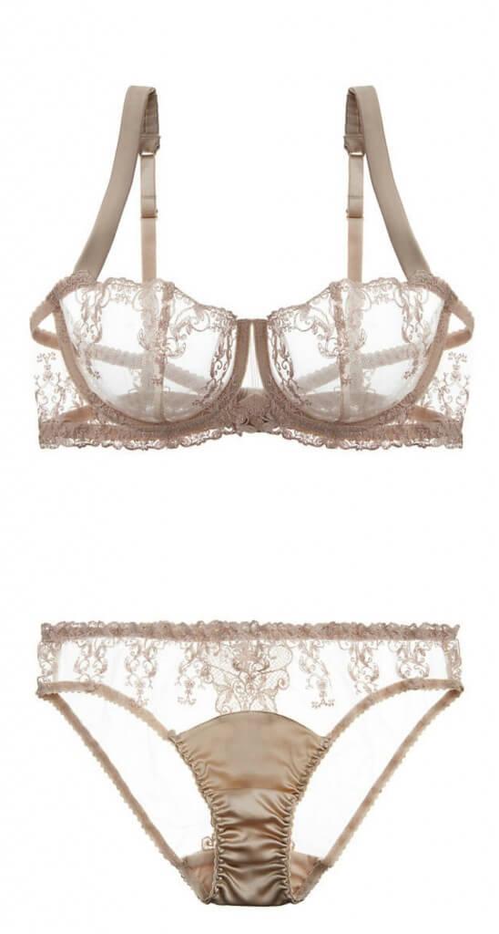 fleur of england champagne bra panty