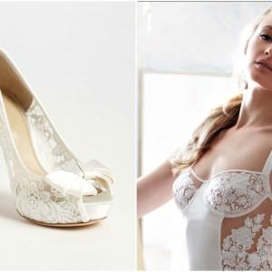 Shoes & Lingerie: Joan & David + Fleur of England
