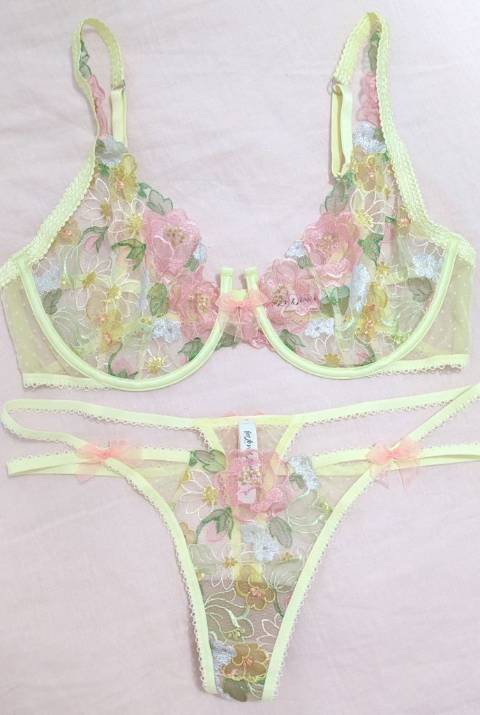 For Love and Lemons for Victoria's Secret Luella Bra and Panty