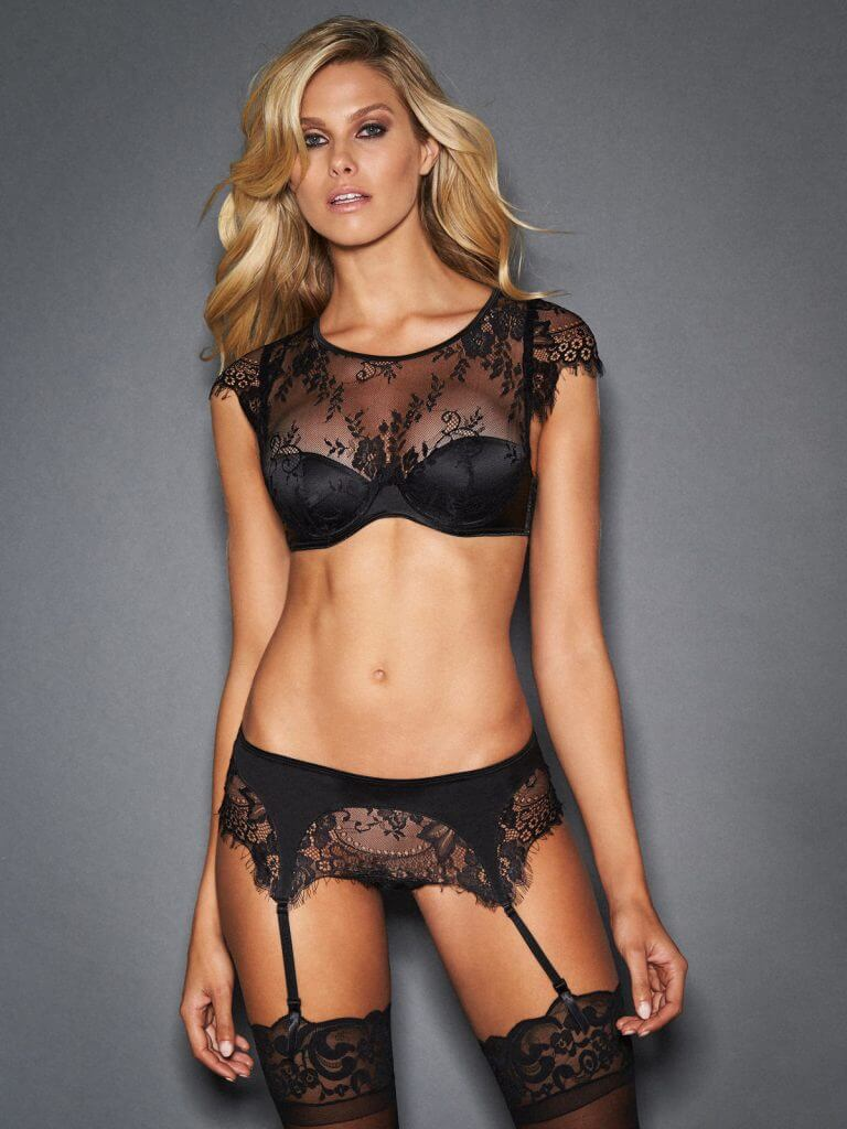 Classic Black. Frederick s of Holliwood Ophelia Delicate Lace Bra Set 2b038ce57