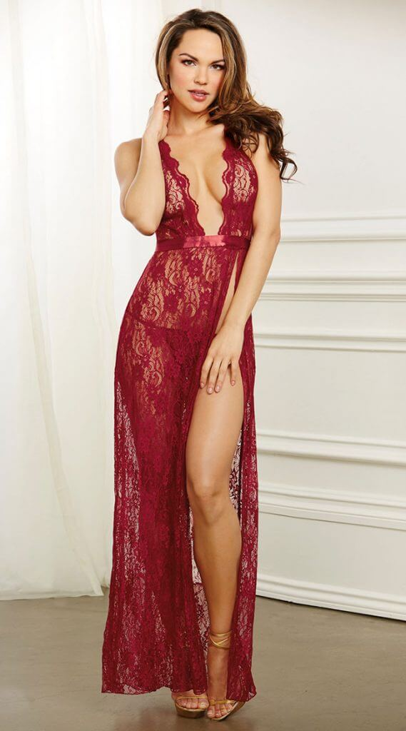 Karnation Lingerie Trachelle Garnet Long Gown - Valentine's Day Lingerie