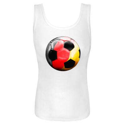 Germany Soccer Ball  White Tank $18.99