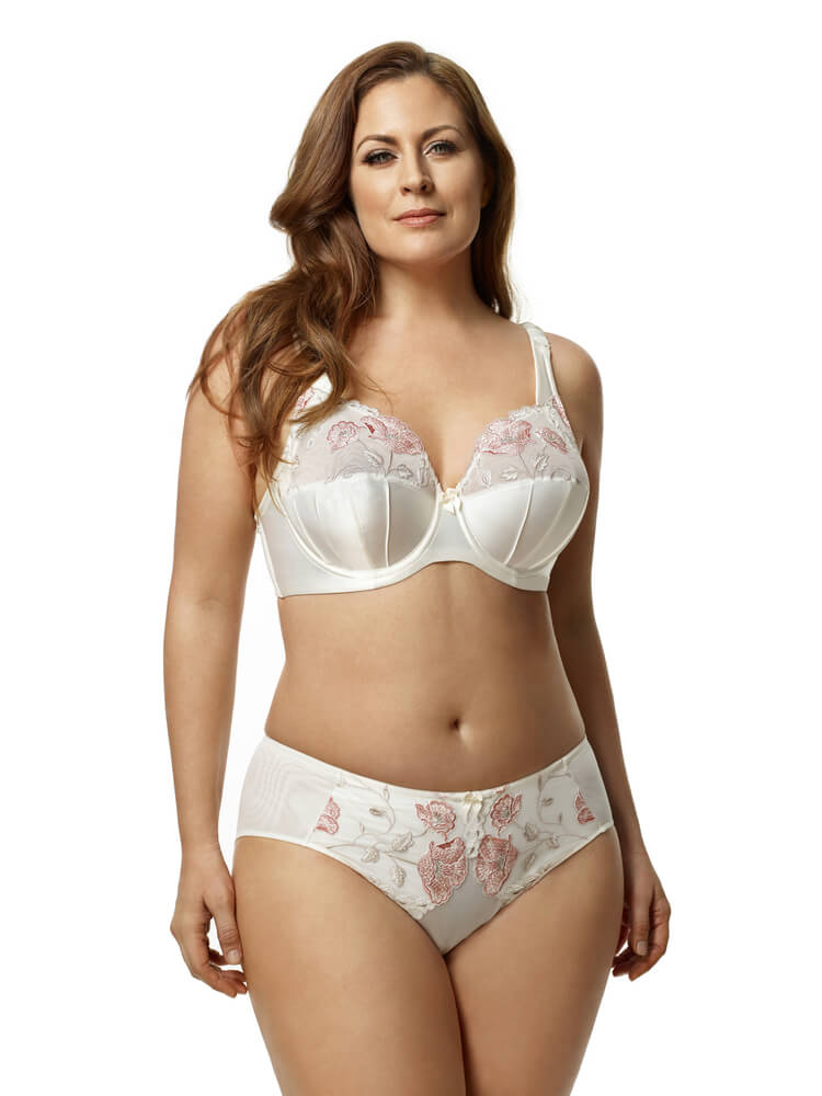 Glamour Embroidery Underwire Bra by Elila  34E/DD to 46K (US sizing)