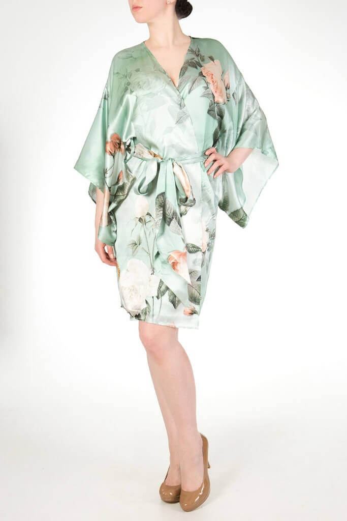 harlow and fox anastasia silk print robe