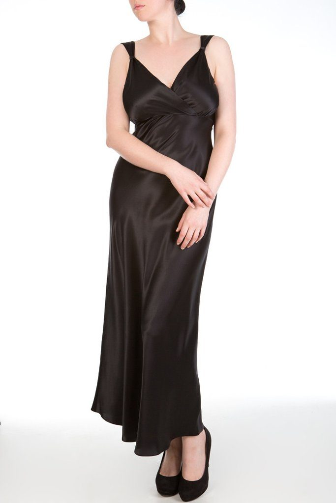 Harlow and Fox Viola Jet Silk Gown - $408.00