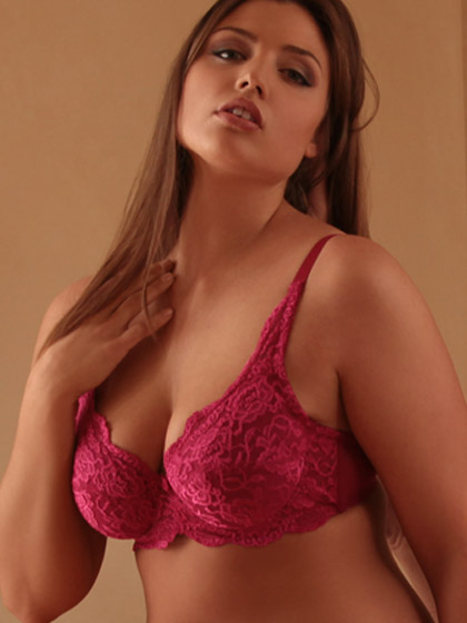 Hips and Curves Soft Lace Plus Size Bra - $26.95
