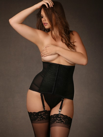 Hips and Curves Waist Cincher with Garter Straps