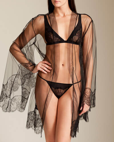 I.D. Sarrieri Key to Room 13 Tulle Short Robe (was $1,035, now $621)