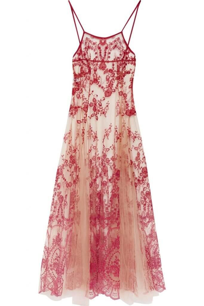 I.D. Sarrieri La Naissance de Venus Embroidered Tulle Nightdress - $1285.00