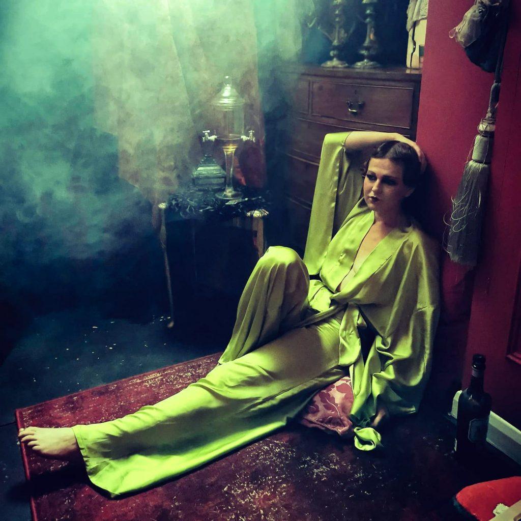 Magdalene Celeste Chartreuse Pajamas