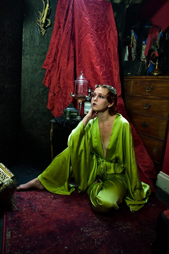 Magdalene Celese Chartreuse Pajamas