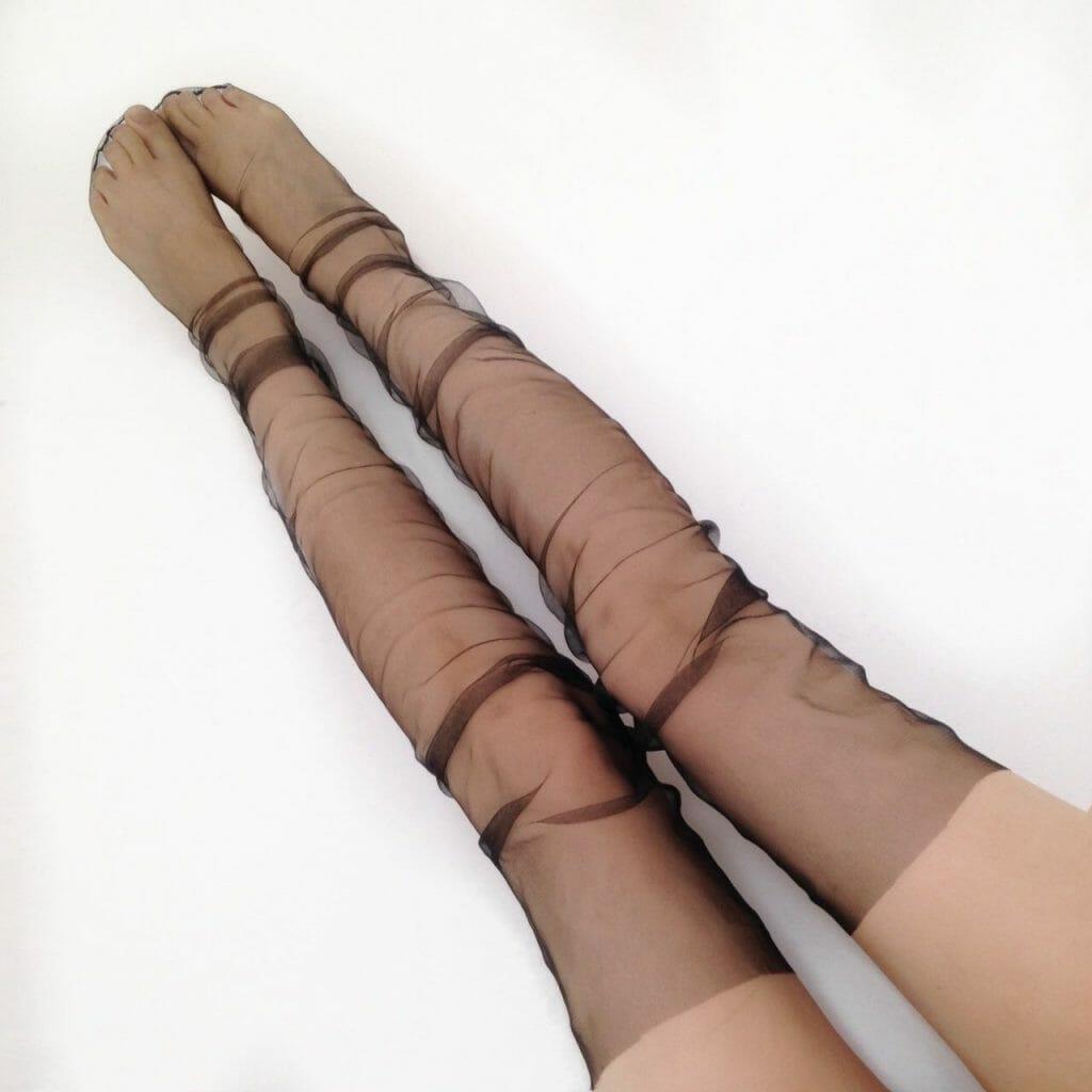 Katrin Gloss Tulle Thigh High Socks