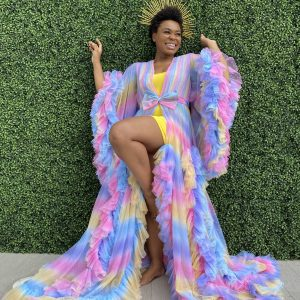 Lingerie of the Week: Oyemwen Candy Rainbow Tulle Robe