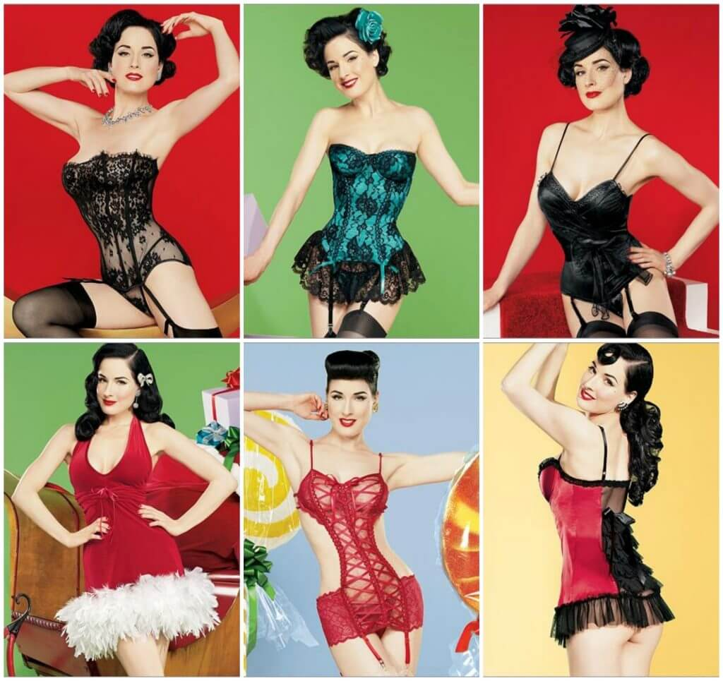 The Dita Von Teese for Frederick's of Hollywood Collection. Burlesque-inspired lingerie for the holiday season.