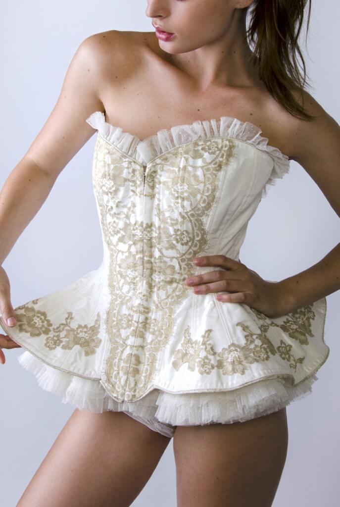 Jane Woolrich Silk Corset with Ballerina Skirt - $1,400.00