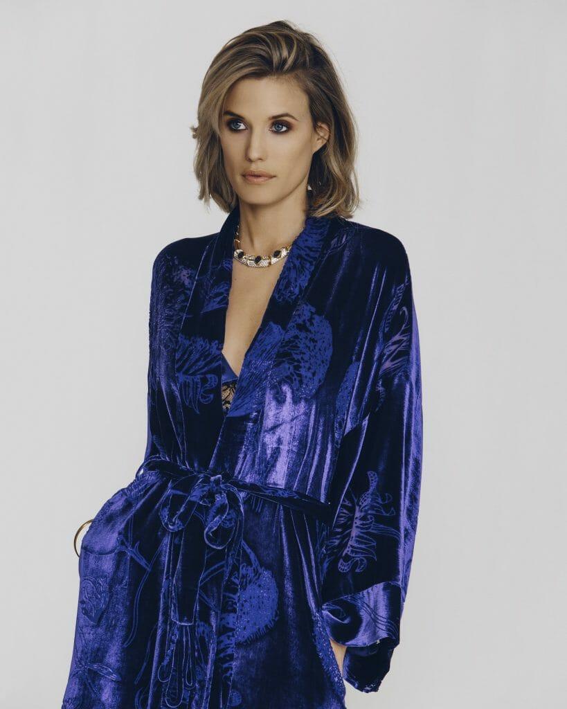 Christine Vancouver Faberge Silk Velvet Robe - Velvet Devoré Loungewear Trend