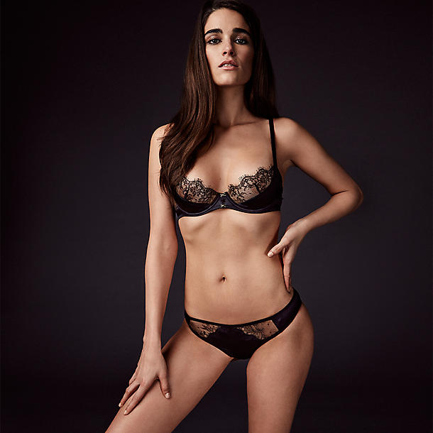 Journelle's Veronique Low Balconette Bra is available in 12 core sizes from 30C to 36B, rather than the full 20 sizes that Journelle typically manufactures.