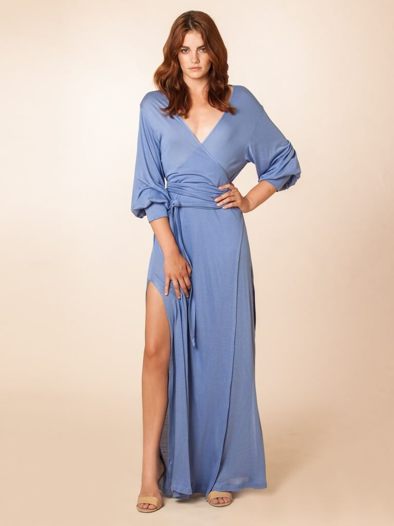 Kate Maxi Robe in Hydrangea by Dear Bowie