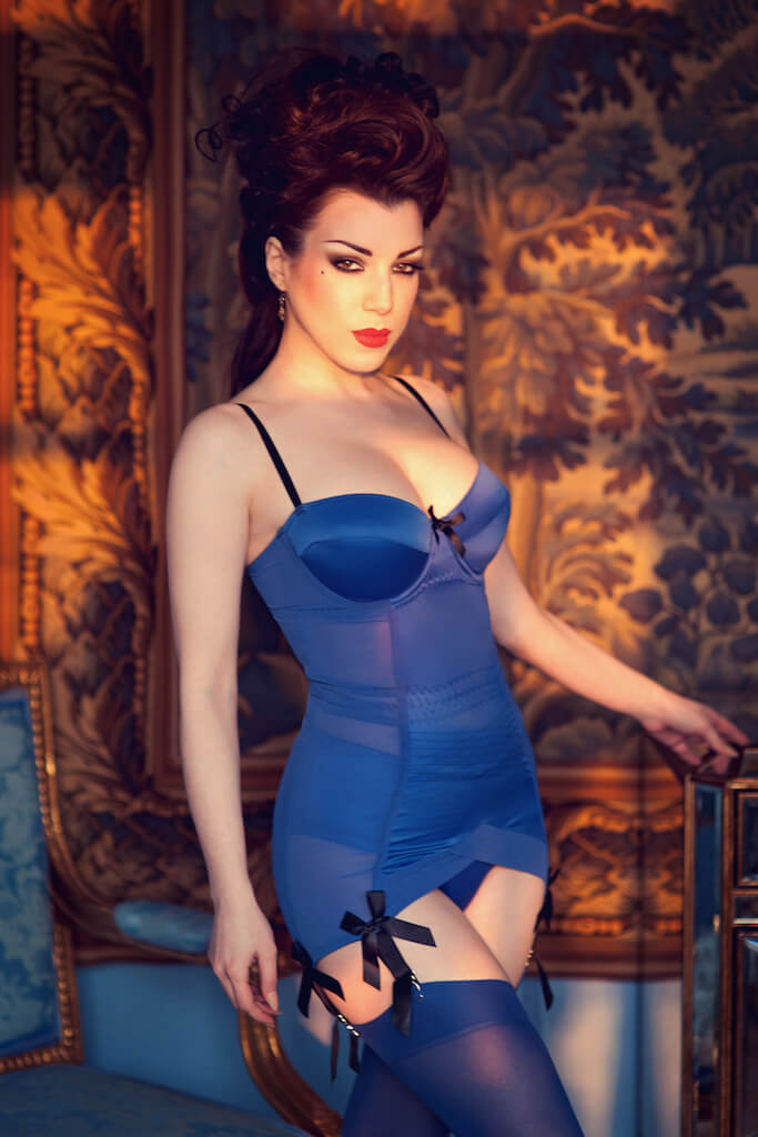 kiss-me-deadly-lingerie-blue-dress-1