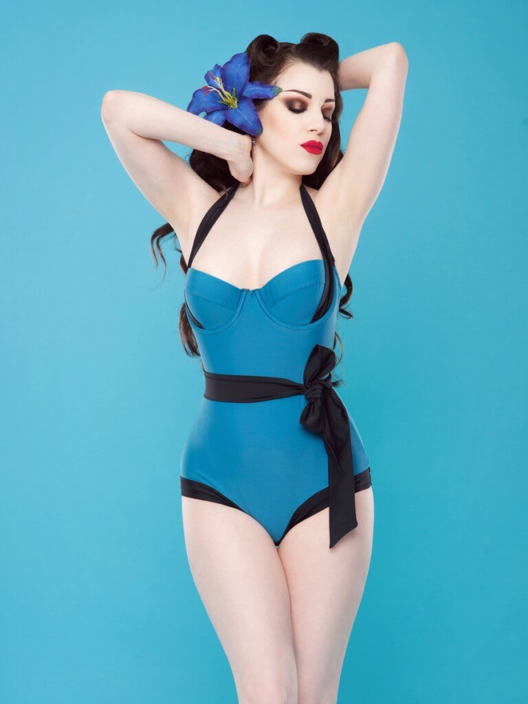 Teal Bow Swimsuit