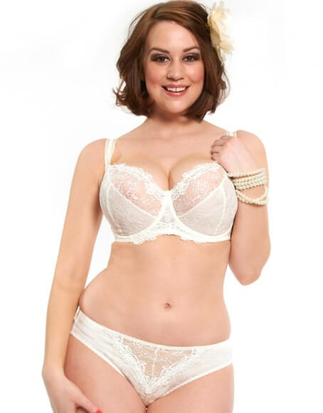 Pearl Balconette Bra by Kris Line  Limited sizes available