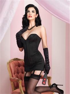a3903048a3a Leg Avenue Black Satin Corset Dress via Babygirl Boutique