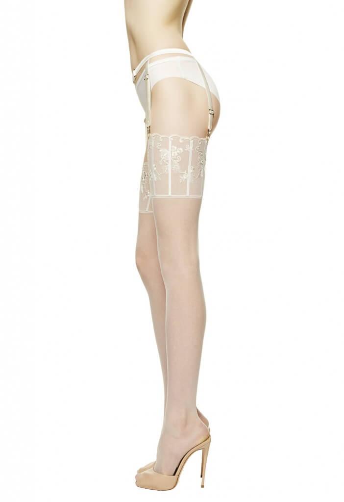 la perla floralia stockings