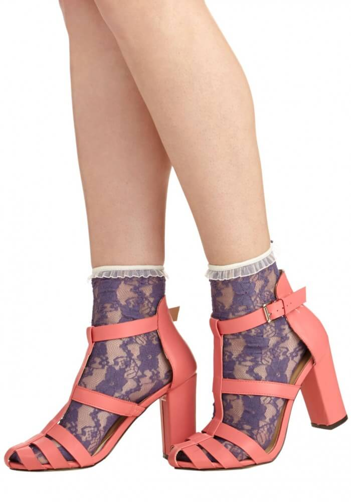 """""""Lithe Is But a Dream"""" lace socks from Velvet Heart via ModCloth"""