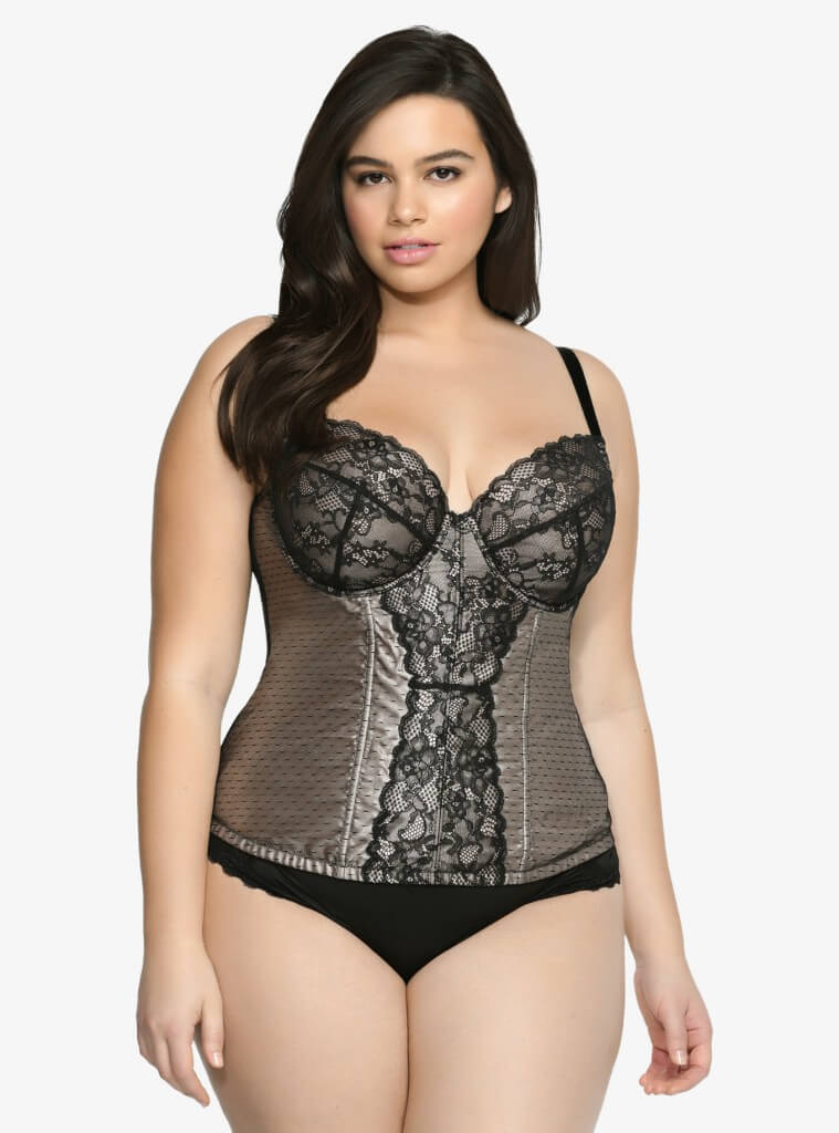 Lace and Mesh Bustier by Torrid