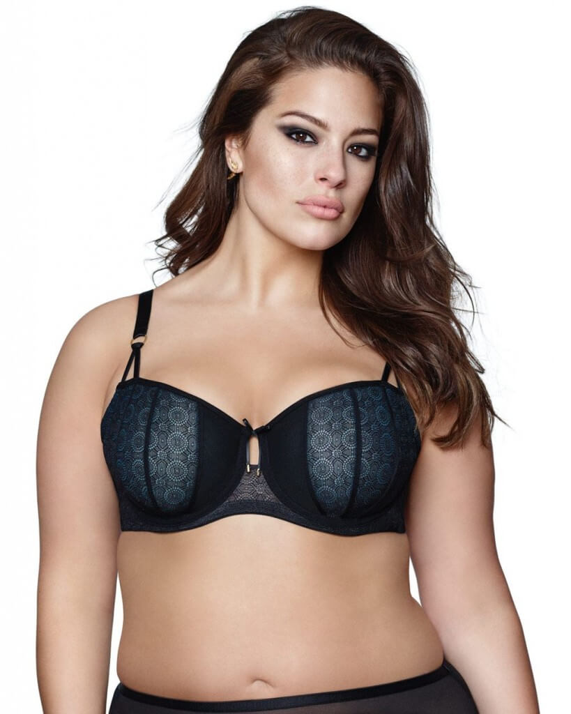 Lace and Mesh Underwire Bra by Addition Elle  36H to 42H (US sizing)