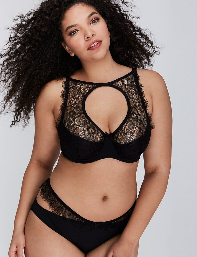 Lane Bryant Open High Neck Balconette Bra Set - $75.00