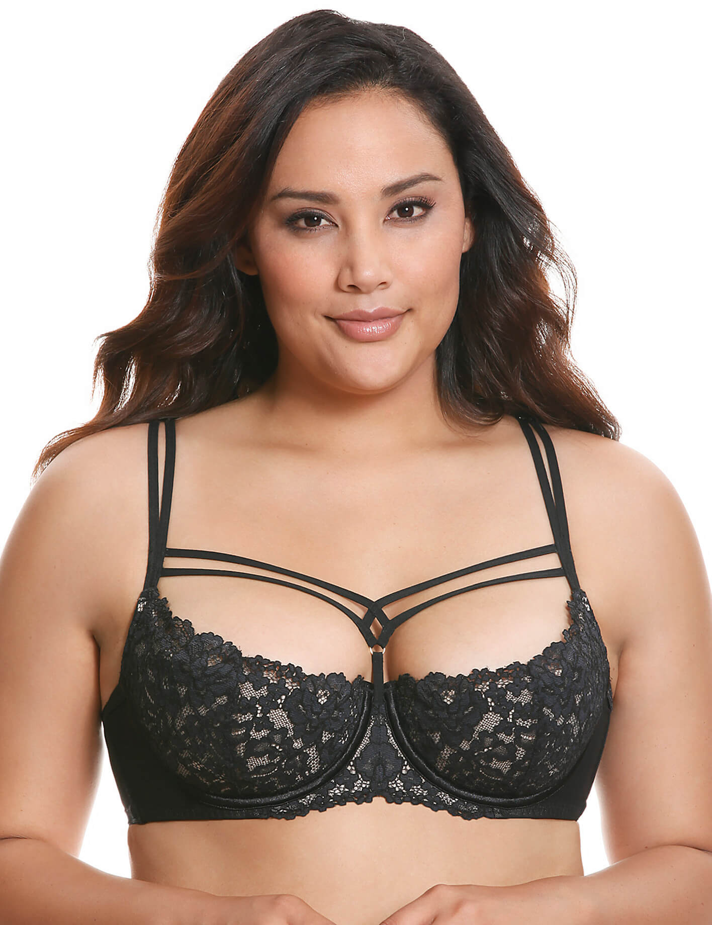 3c83a8e951 Lingerie of the Week  Lane Bryant Strappy Lace Balconette Bra