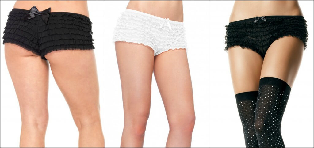 leg avenue frilly knickers