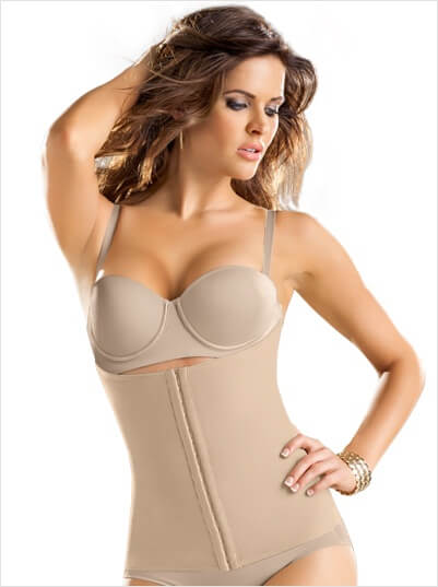 Latex waist shaper (girdle) by Leonisa. Not a corset.