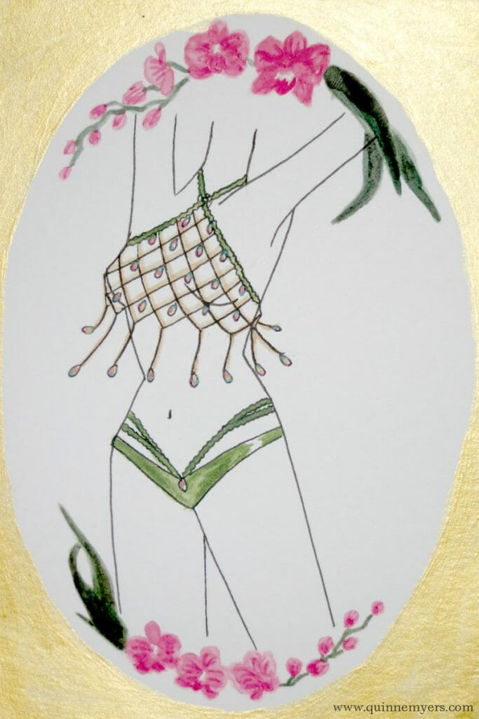 Lingerie zodiac Aquarius by illustrator Quinne Myers