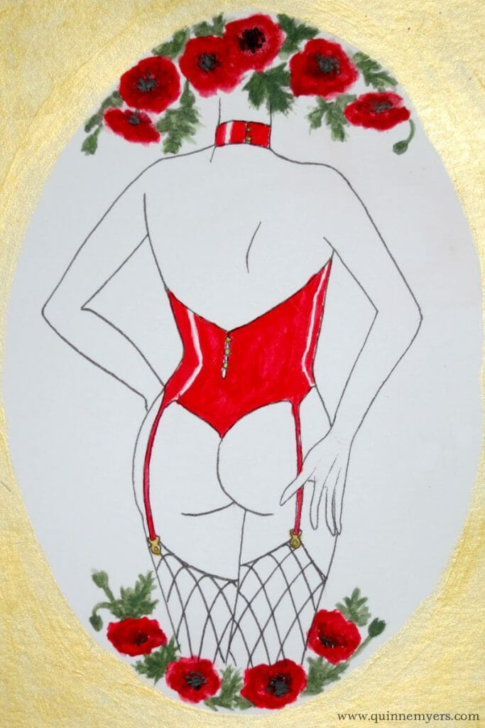 Lingerie zodiac Aries by illustrator Quinne Myers