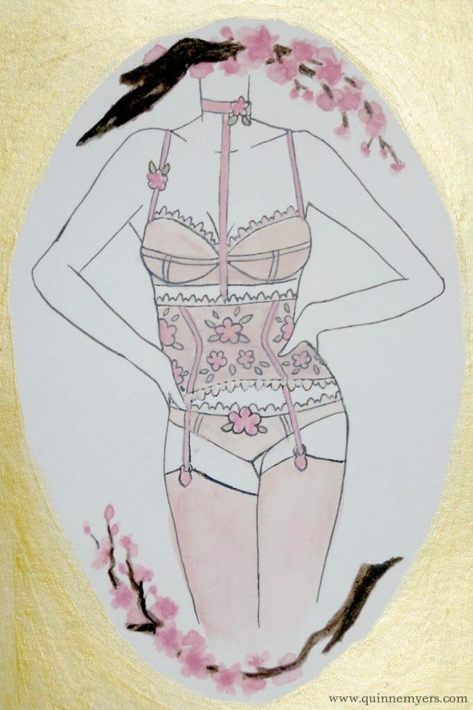 Lingerie zodiac Libra by illustrator Quinne Myers