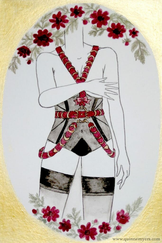 Lingerie zodiac Scorpio by illustrator Quinne Myers